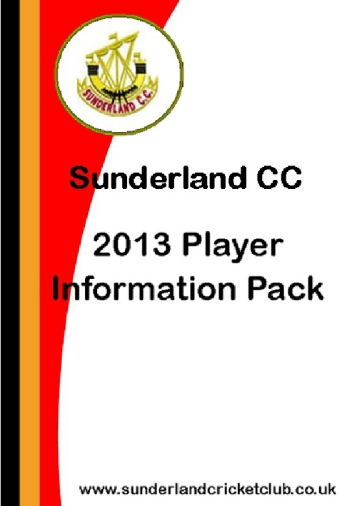 Sunderland CC - 2013 Player Pack