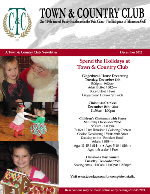 T&C December 2012 Newsletter