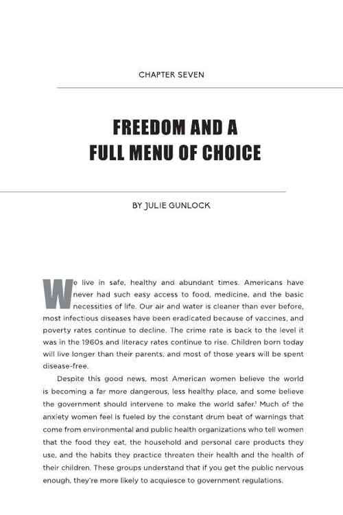 Chapter Seven - Freedom and a Full Menu of Choice