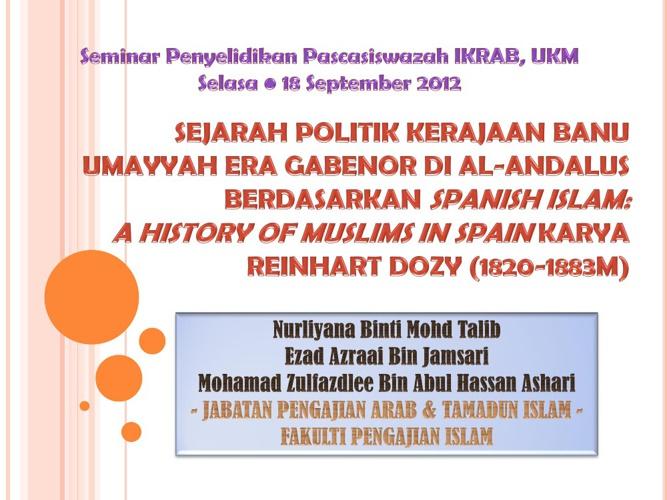Sejarah Politik Kerajaan Banu Umayyah Era Gabenor di al-Andalus