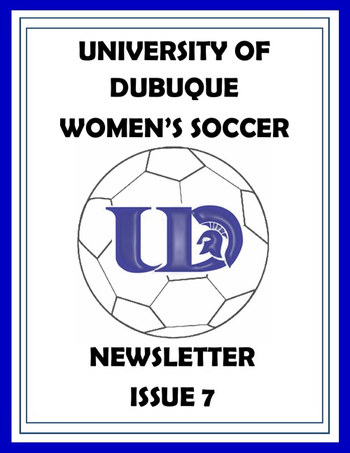 UD Women's Soccer Newsletter Issue 7