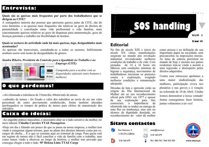 Boletim SOS handling - Nº 3