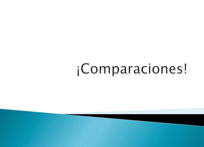 Comparaciones Practice