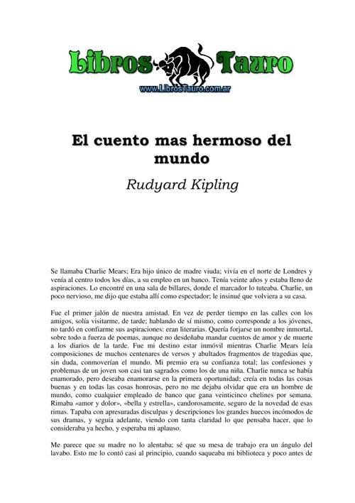 El cuento más bonito del mundo -Rudyard Kiplin