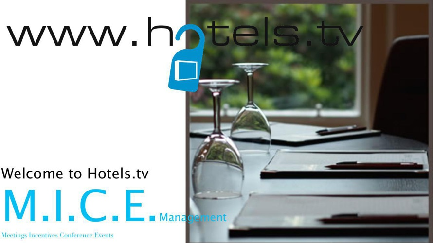 Hotels tv Marketing Brochure for Event Organisers Zurich