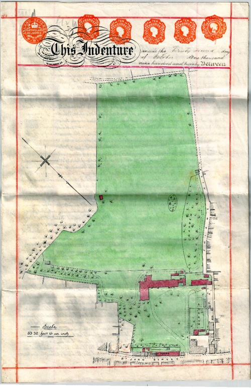 The Friary 1920 Conveyance Plan
