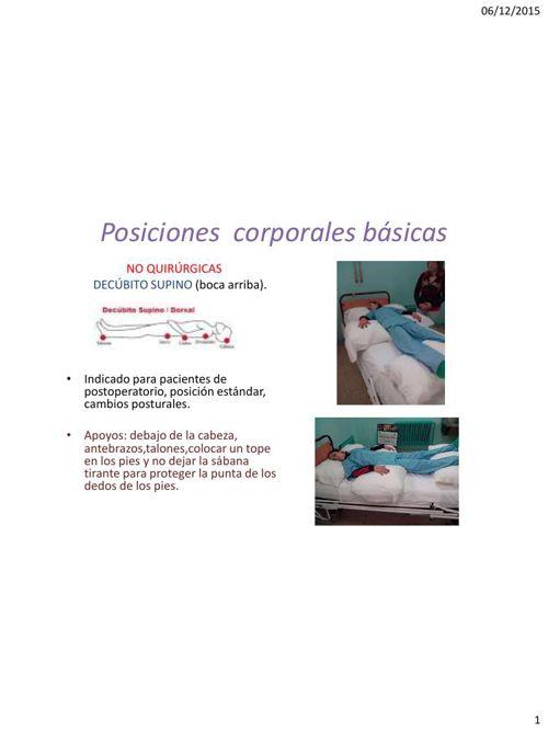 POSICIONES CORPORALES QUIRURGICAS Y NO QUIRURGICAS.