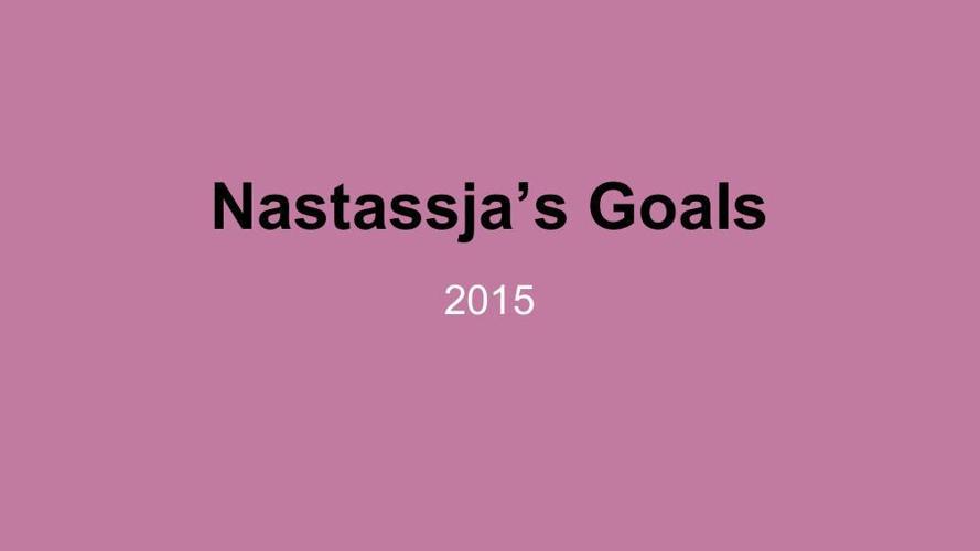 Goal Setting Template Nastassja Nguyen
