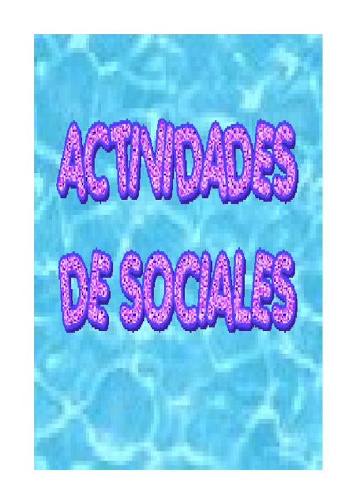 actividades de sociales