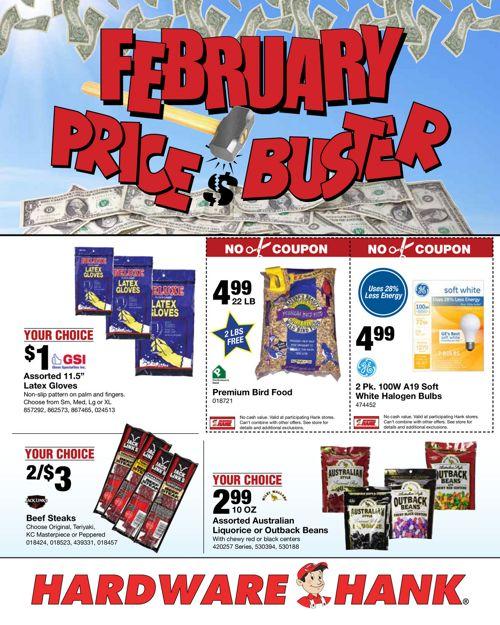 Shelby Paint & Hardware February Flyer