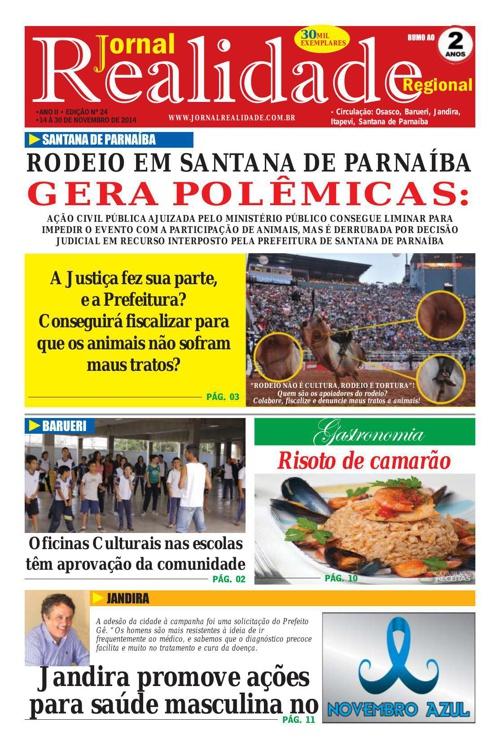 JORNAL REALIDADE - EDIÇÃO NOVEMBRO/2014
