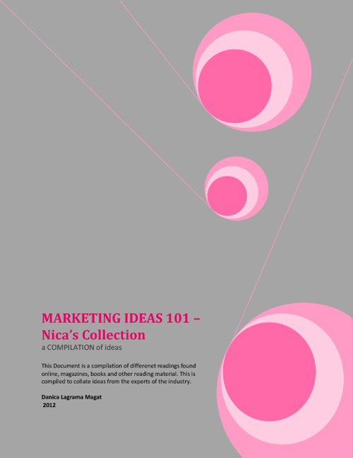 Marketing Ideas 101 - Nica's Collection