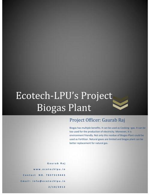 Campus Biogas Plant