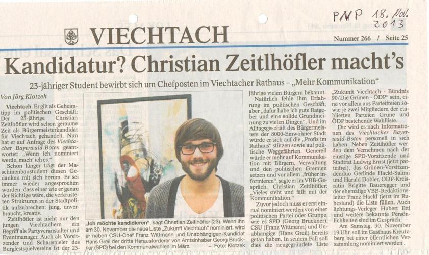 Zukunft Viechtach Presseartikel
