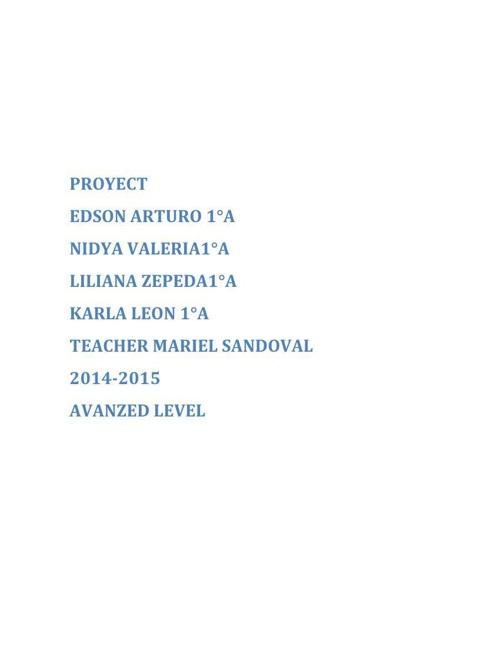 ingles proyecto