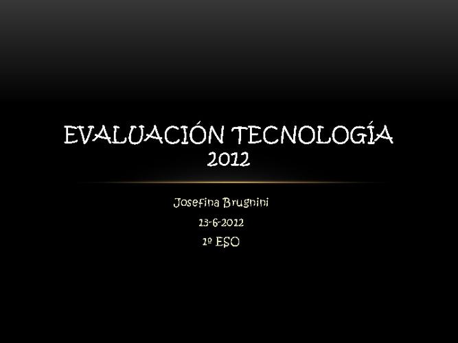EVALUACION TECNOLOGÍA 2012