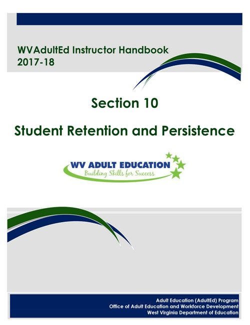 WVAdultEd Instructor Handbook 2015 - 2016 Section 10