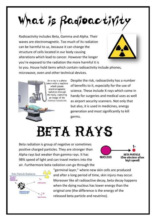 radioactivity booklet