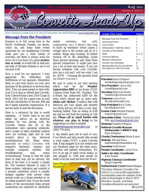 GOCC August 2014 Newsletter