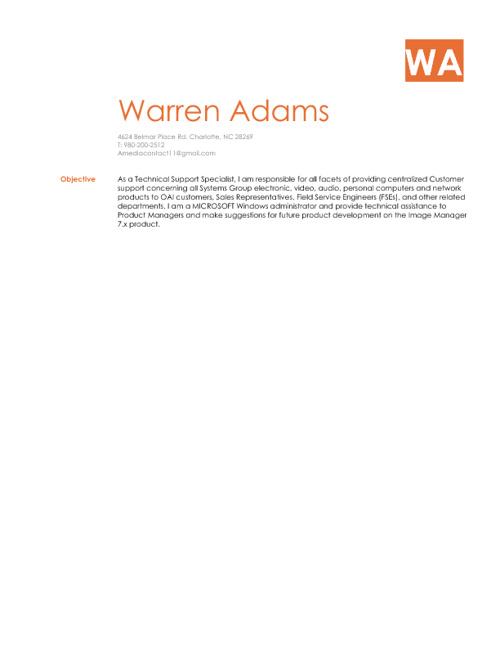 W.Adams Reume