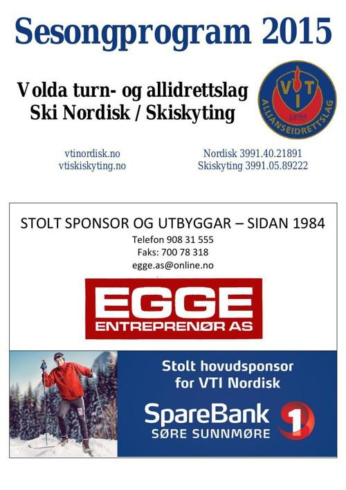VTI Nordisk sesongprogram 2015