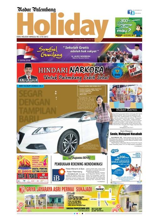 Radar Palembang Edisi 16-03-2013 Koran 1