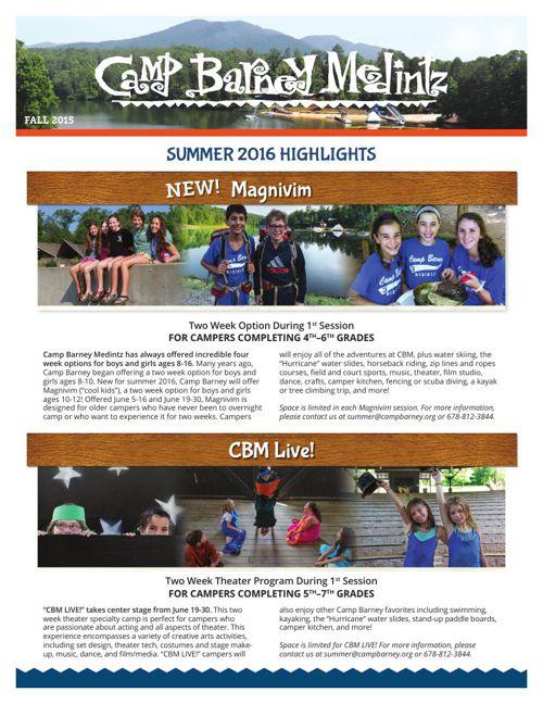 Camp Barney Medintz Overnight Camp: Summer 2016 Highlights