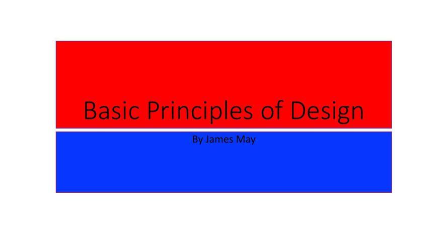 Basic Principles of Design james may