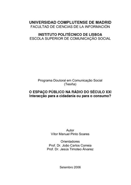 VÍTOR SOARES - Estudos e artigos