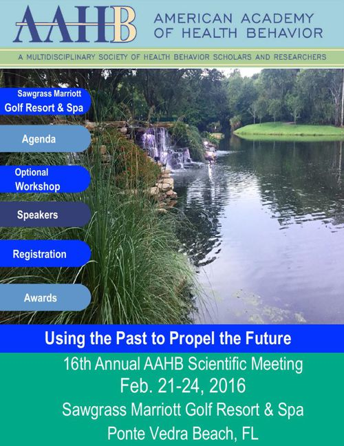 AAHB 2016 Pre Conference Brochure