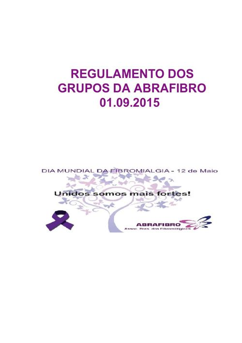 REGULAMENTO DOS GRUPOS DA ABRAFIBRO - VERSÃO 01.09.2015