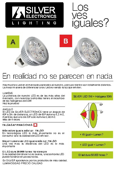 Algumentos LED  + Plan renove