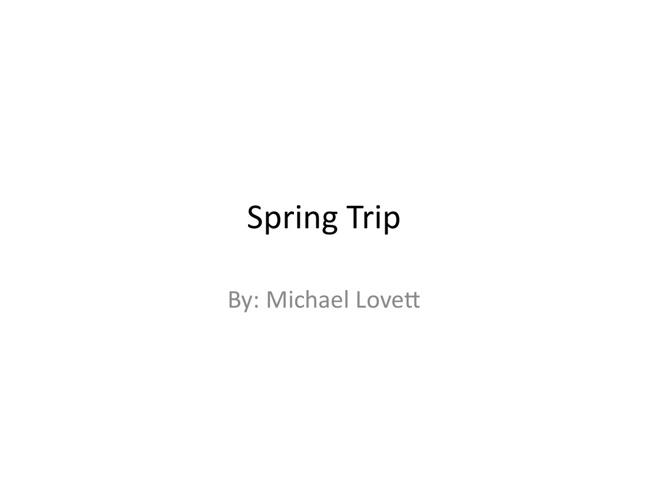 Spring Trip Flipsnack
