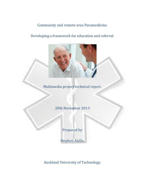 Community and remote care Paramedicine