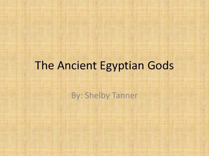 Ancient Egyptian Gods