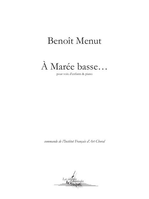 A marée basse - Benoît Menut
