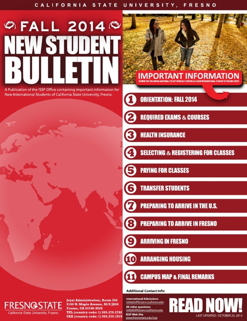 NEW STUDENT BULLETIN (FALL 2014)