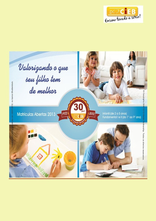 EDITAL DE MATRÍCULAS 2013