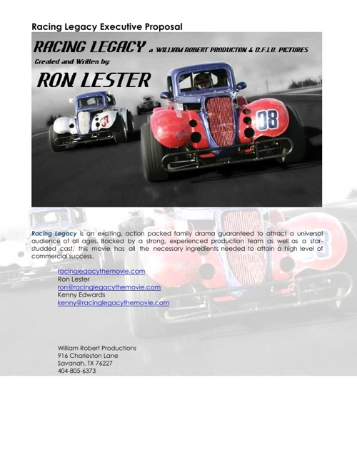 Racing Legacy Business Plan 13