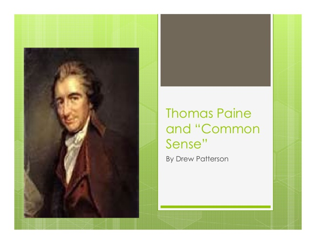 Thomas Paine by Drew P