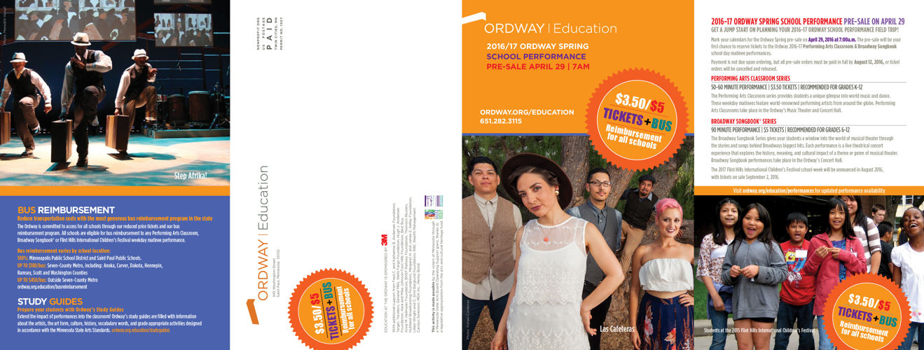Spring Education brochure | 16-17 Ordway Season