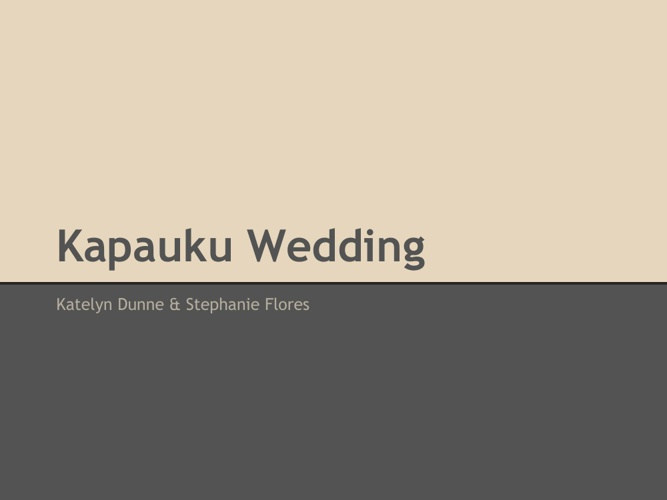 Kapauku Wedding