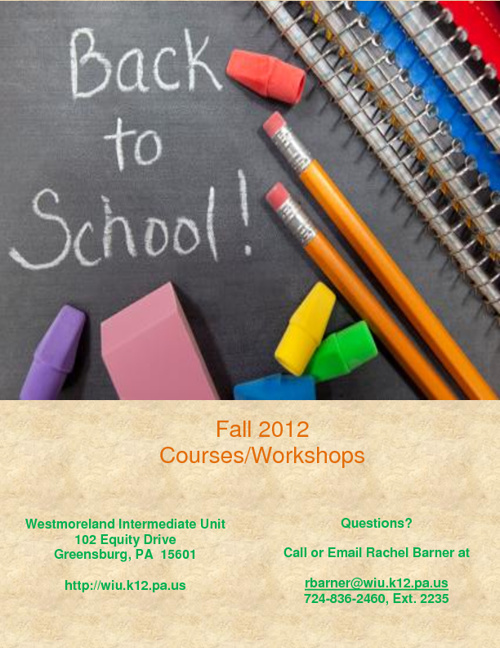Fall 2012 WIU Courses and Workshops