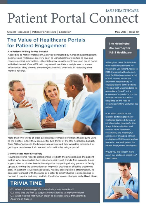 Patient Portal May 2015 Newsletter