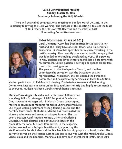 2016 Officer Nominees Bios for Bulletin