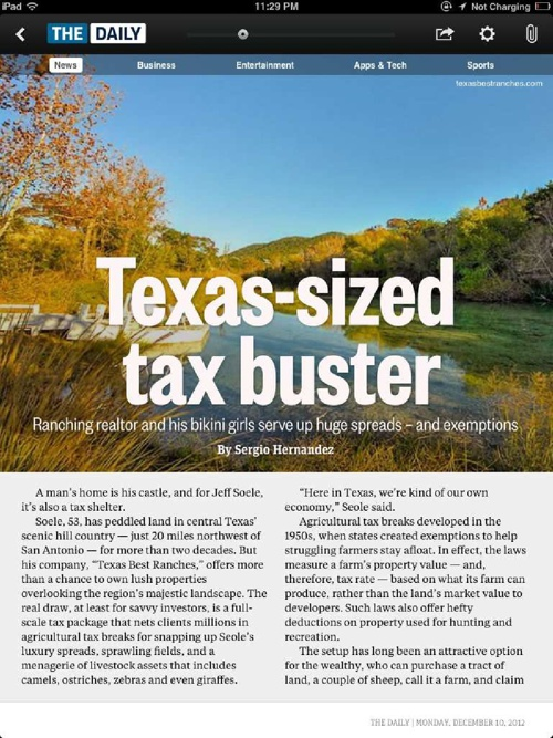 Texas-sized tax buster