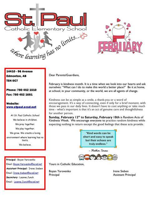 February 2017 St  Paul School Newsletter
