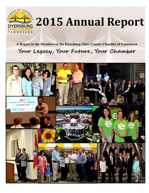 2015 Annual Report for the Dyersburg/Dyer County Chamber of Comm