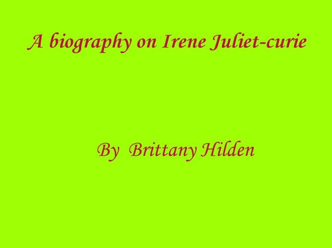 p. 5  hilden  Joliot-curie