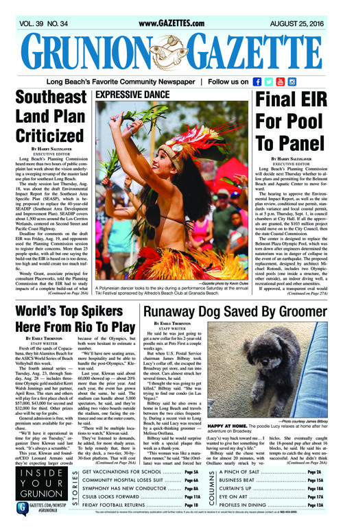 Grunion Gazette | August 25, 2016
